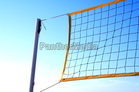 foto of volleyball net at summer