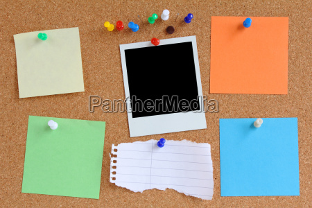 colorful order to cork pinboard