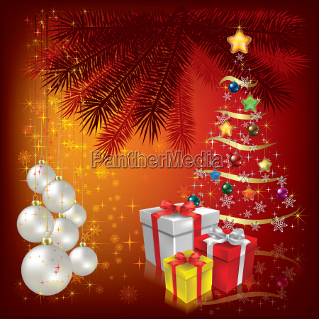 christmas greeting with decoration and candle