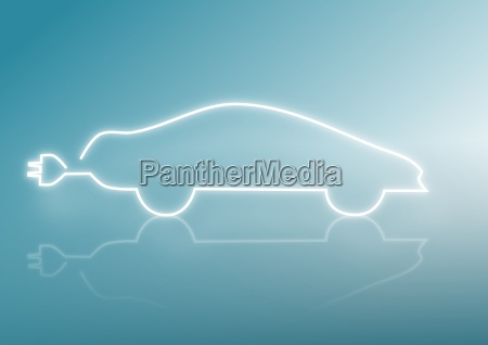 silhouette of a car energy concepts