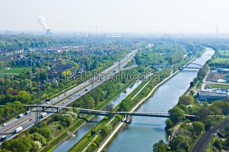 rhine herne canal and emscher