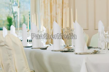 wedding festively decorated table