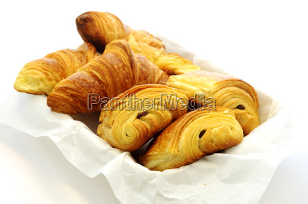tasty french bakery on a white