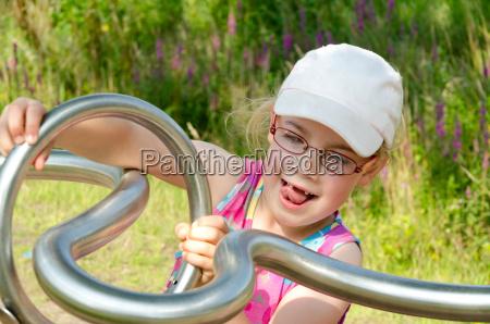 girl on a playground