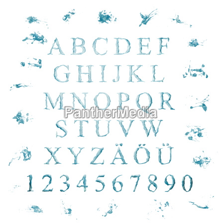 alphabet from letters water