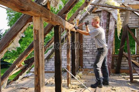 cancel roof roof truss demolish