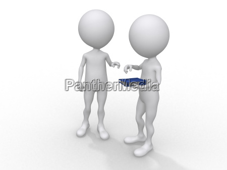 3d rendered illustration of two business