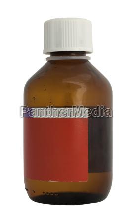 medical bottle of medicine