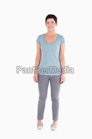 good looking woman standing up