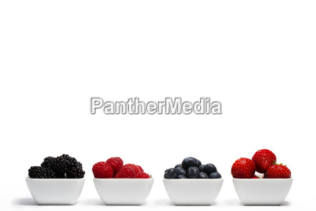 berries in a row cups