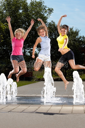 jumping in a fountain