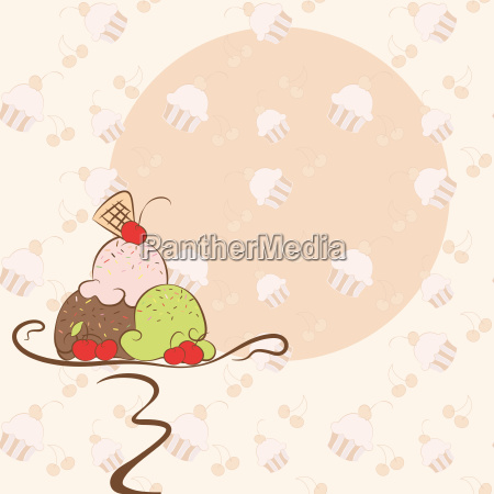 summer ice cream invitation card