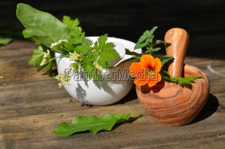 herbal mortar fresh