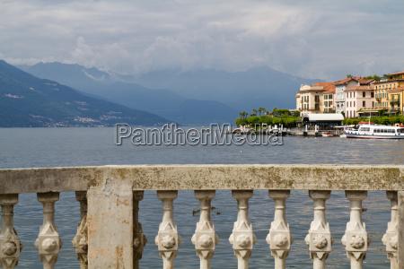 stone balustrade at the como lake