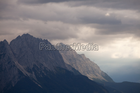zugspitze on a late afternoon with