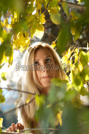 young healthy blond woman in the
