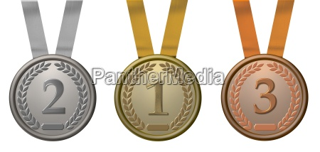illustration gold silver and bronze medal