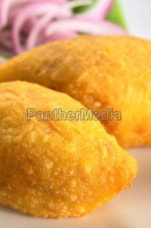 peruvian dish called papa rellena