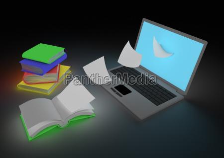 digitizing book concept