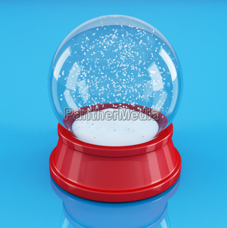 empty snow globe isolated on blue