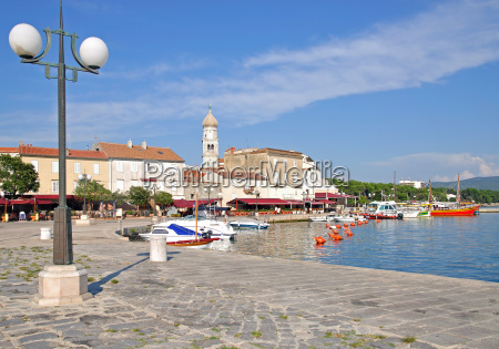 krk town on the holiday island