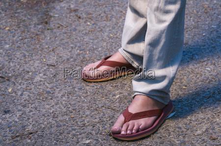 feet in sandals