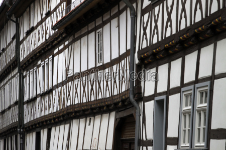 half timbered houses in muehlhausen