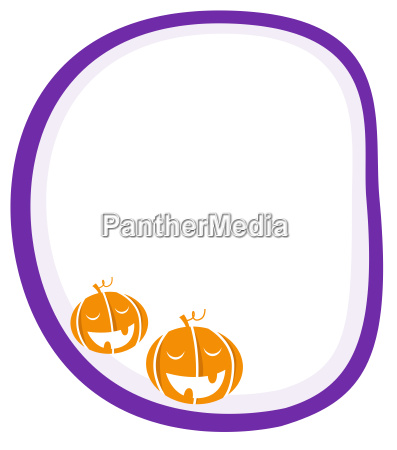 halloween white and purple banner with