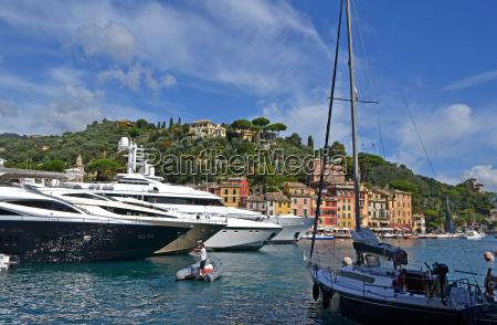 yachts in portofino