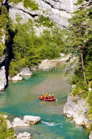 rafting verdon gorge provence france