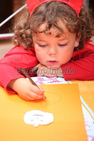 closeup of a child in a