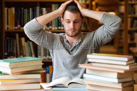 tired student having too much to