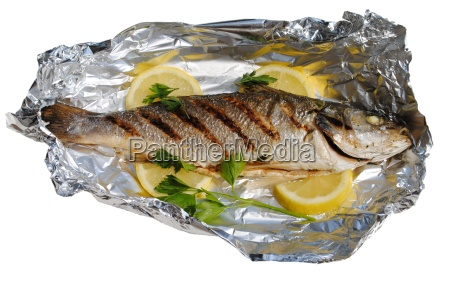 sea fish cocked in a wrapper