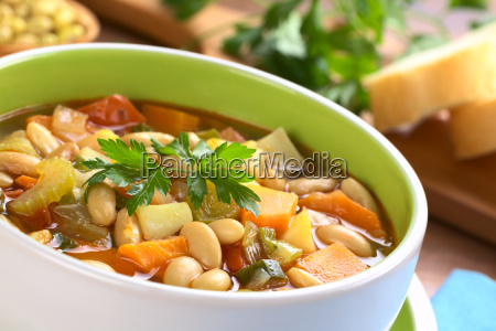 vegetarian canary bean soup