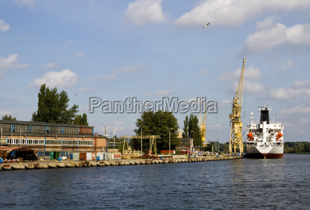 dockyard harbor harbours poland river water