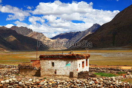 house building india tibet tradition mountain
