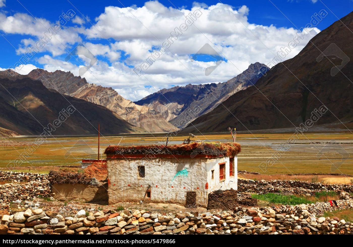traditional, house, zanskar, valley, india - 5479866