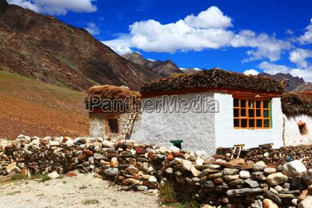 traditional, house, zanskar, valley, india - 5479868