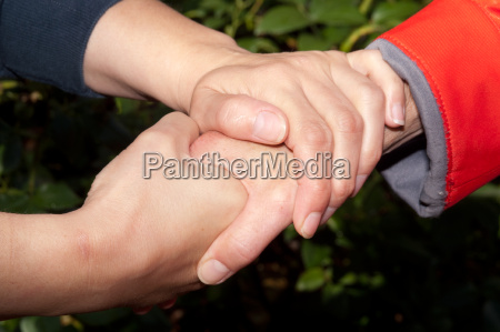 consoling hand