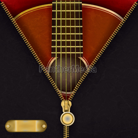 abstract background with guitar and open