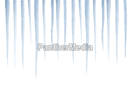 real icicles isolated on white