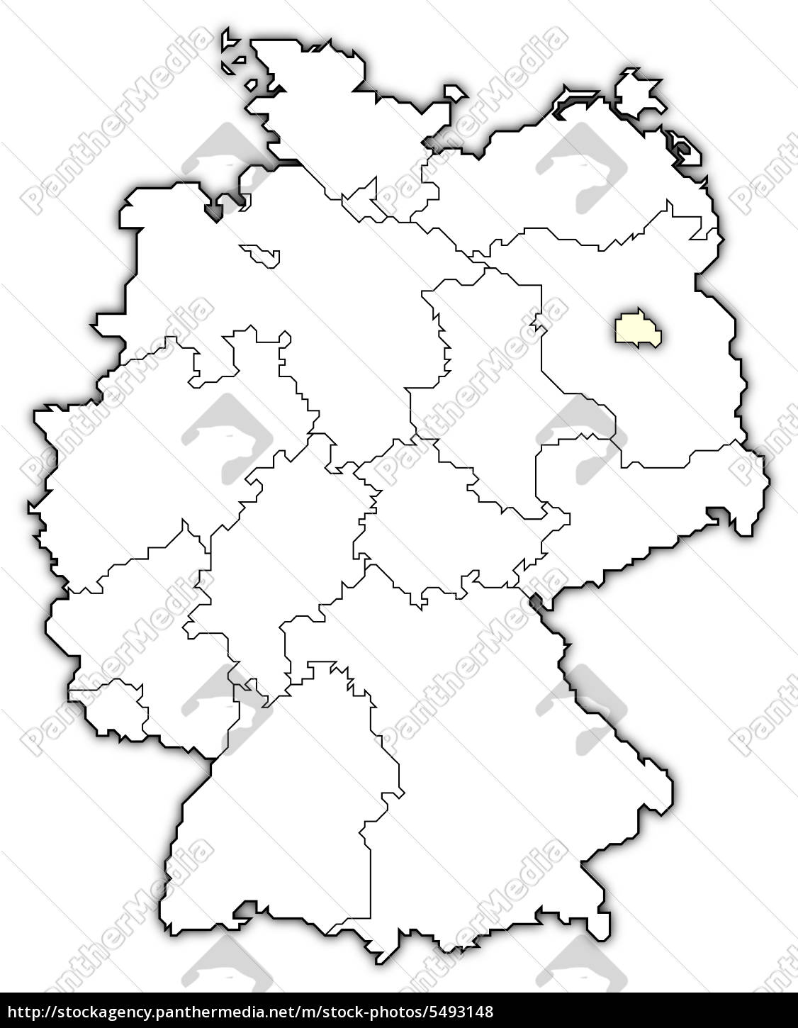 Berlin Map Of Germany.Royalty Free Photo 5493148 Map Of Germany Berlin Highlighted