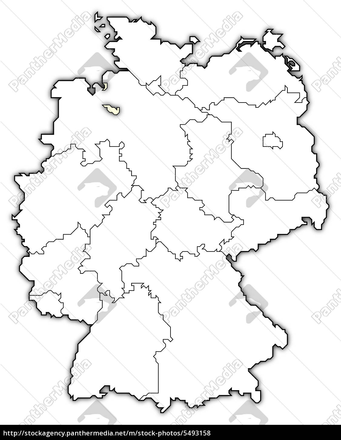 Map Of Bremen Germany.Stock Image 5493158 Map Of Germany Bremen Highlighted