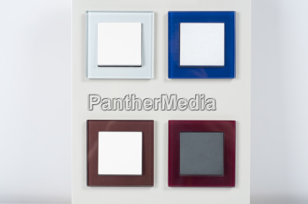 light switches on the wall with