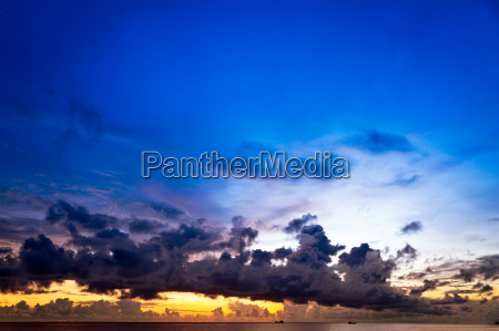 sunset at south china sea with