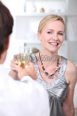 couple enjoying romantic meal