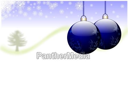 christmas motive blue