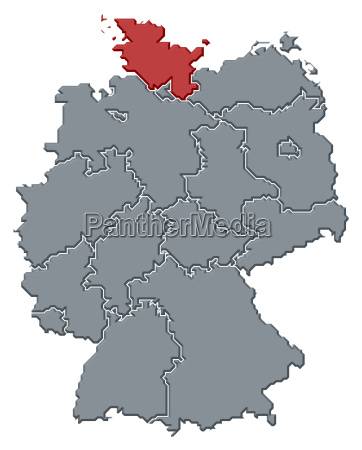 map of germany schleswig holstein highlighted