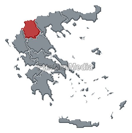 map of greece west macedonia highlighted