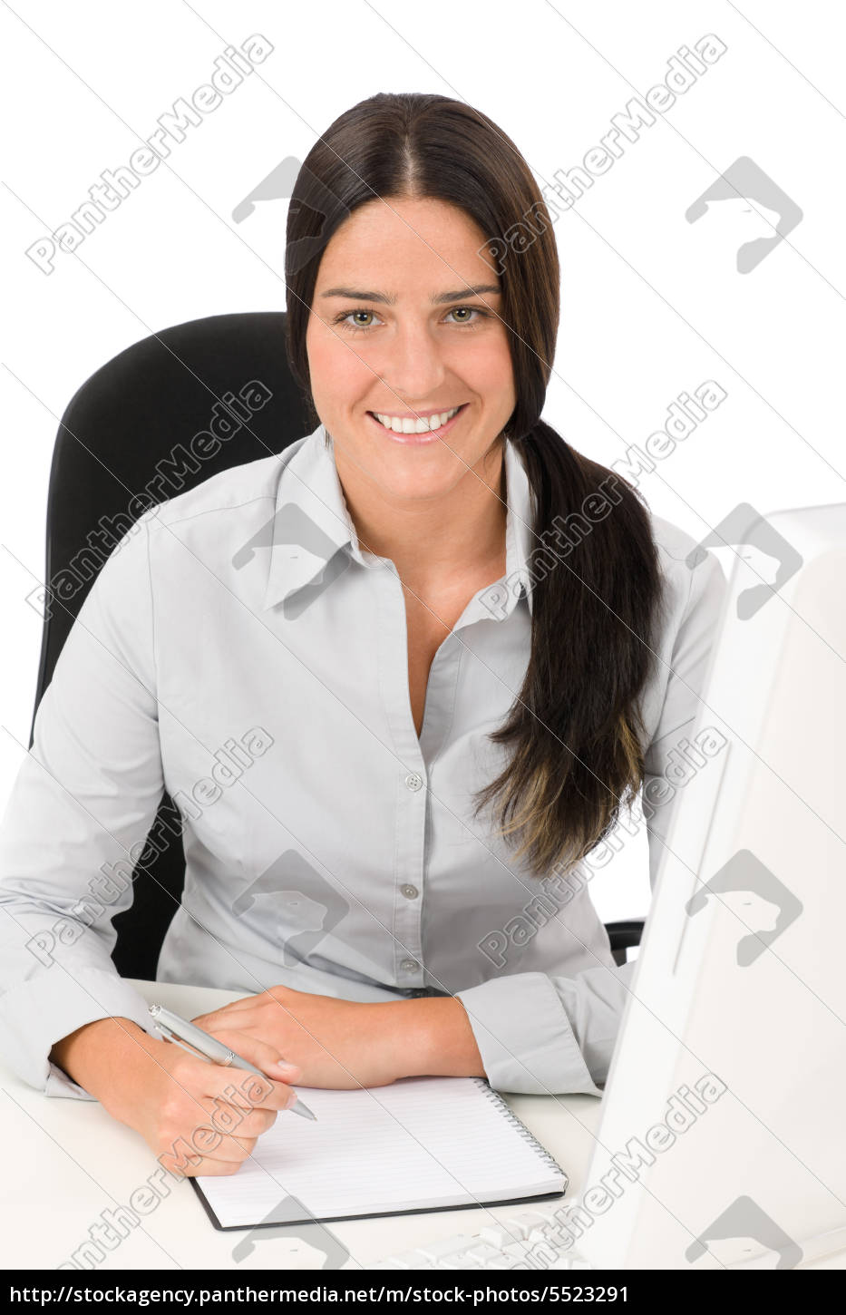 successful, business, woman, at, office, with - 5523291